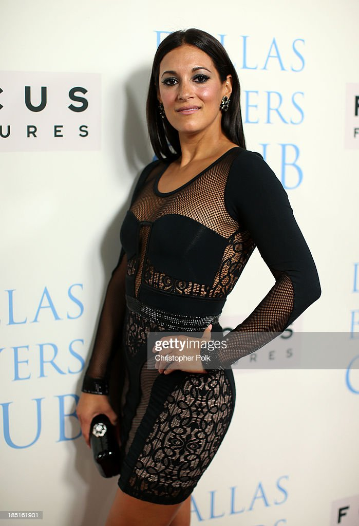 Actress Angelique Cabral attends Focus Features' 'Dallas Buyers Club' premiere at the Academy of Motion Picture Arts and Sciences on October 17, 2013 in Beverly Hills, California.