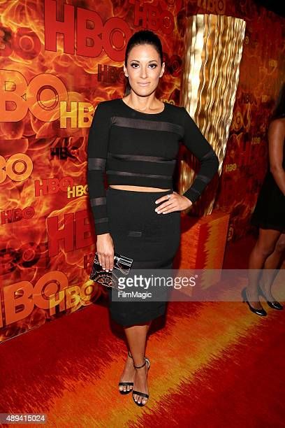 Actress Angelique Cabral attends HBO's Official 2015 Emmy After Party at The Plaza at the Pacific Design Center on September 20 2015 in Los Angeles...