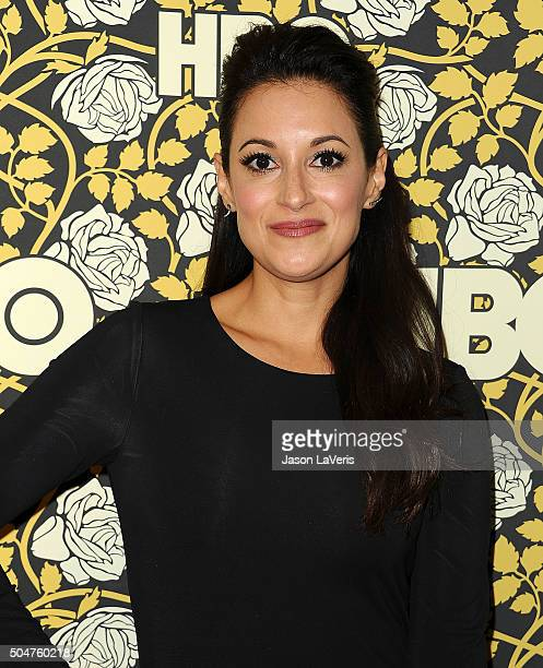 Actress Angelique Cabral attends HBO's post 2016 Golden Globe Awards party at Circa 55 Restaurant on January 10 2016 in Los Angeles California