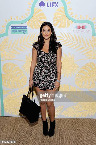 Actress Angelique Cabral attends Kari Feinstein's Style Lounge presented by LIFX on February 25 2016 in Los Angeles California