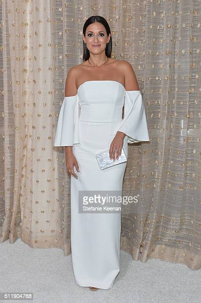 Actress Angelique Cabral attends the 18th Costume Designers Guild Awards with Presenting Sponsor LACOSTE at The Beverly Hilton Hotel on February 23...