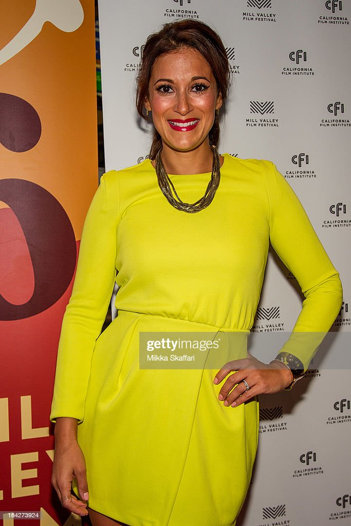 Actress <a gi-track='captionPersonalityLinkClicked' href=/galleries/search?phrase=Angelique+Cabral&family=editorial&specificpeople=7628156 ng-click='$event.stopPropagation()'>Angelique Cabral</a> is arriving to the premiere of 'Beside Still Waters' on October 12, 2013 in Mill Valley, California.