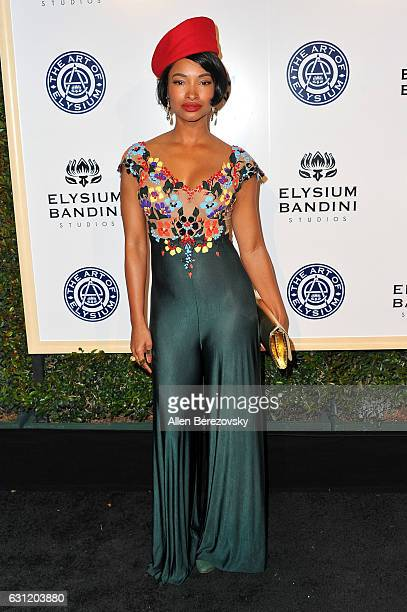 Actress Angelique Cinelu attends Stevie Wonder's HEAVEN 10th Anniversary celebration presented by The Art of Elysium at Red Studios on January 7 2017...