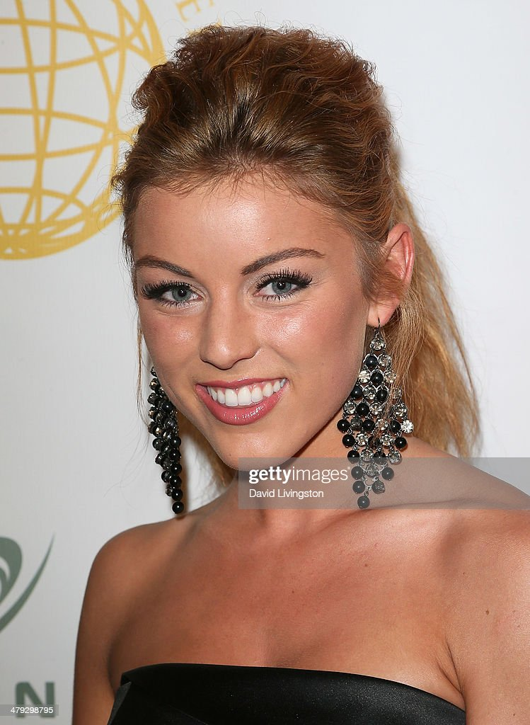 Actress Angelique Cooper attends the Queen of the Universe International Beauty Pageant at the Saban Theatre on March 16, 2014 in Beverly Hills, California.
