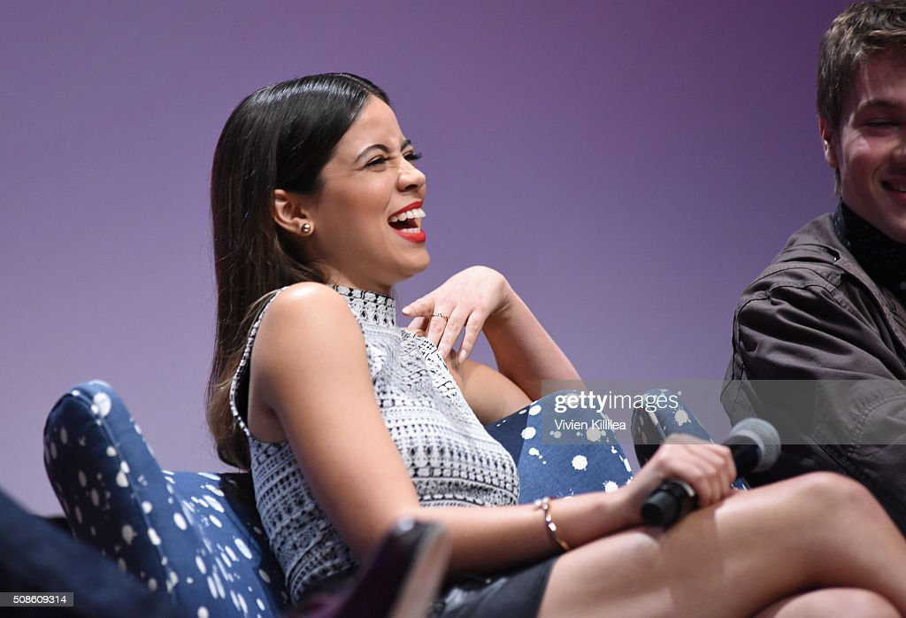 Actress Angelique Rivera speaks on stage during 'American Crime' event during aTVfest 2016 presented by SCAD on February 5, 2016 in Atlanta, Georgia.