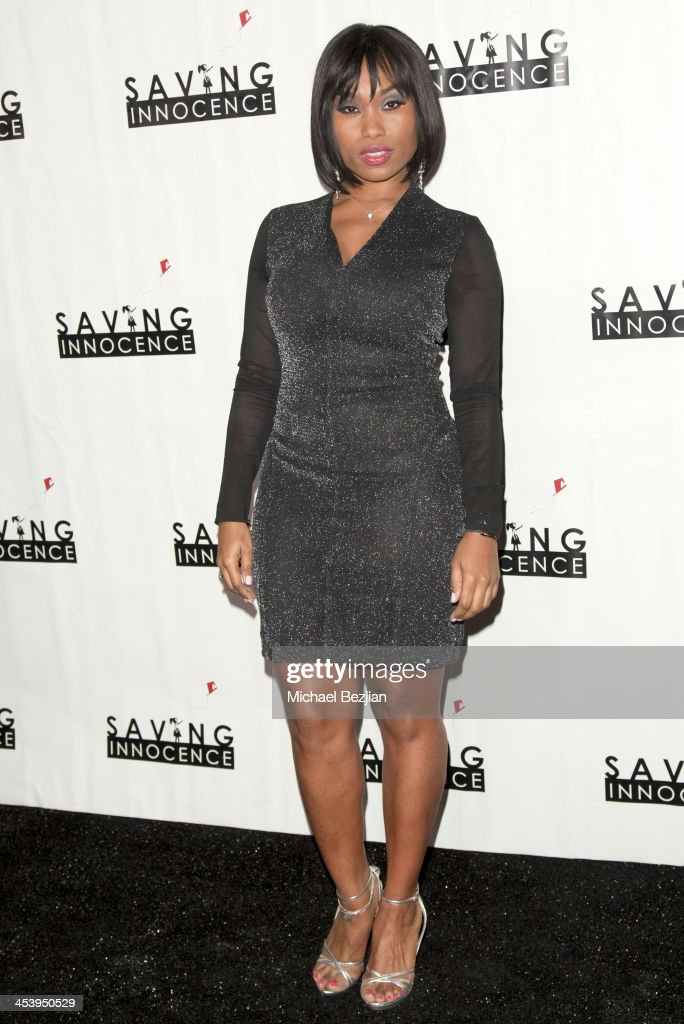 Actress Angell Conwell arrives at the 2nd Annual Saving Innocence Gala Hosted By Kellan Lutz And Keke Palmer - Arrivals at The Crossing on December 5, 2013 in Los Angeles, California.