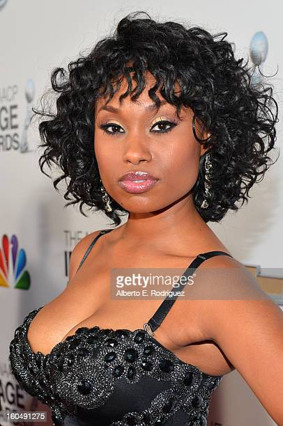 Actress Angell Conwell arrives at the 44th NAACP Image Awards held at The Shrine Auditorium on February 1 2013 in Los Angeles California