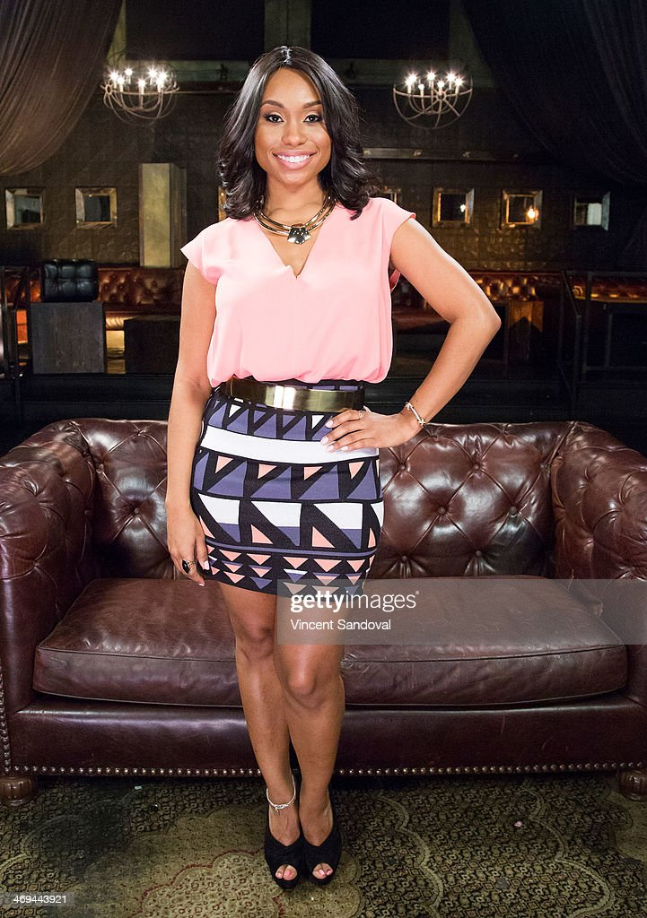 Actress <a gi-track='captionPersonalityLinkClicked' href=/galleries/search?phrase=Angell+Conwell&family=editorial&specificpeople=240300 ng-click='$event.stopPropagation()'>Angell Conwell</a> attends Kevin Frazier hosts roundtable discussion with CBS Daytime's NAACP Award Nominees at The Sayers Club on February 14, 2014 in Hollywood, California.