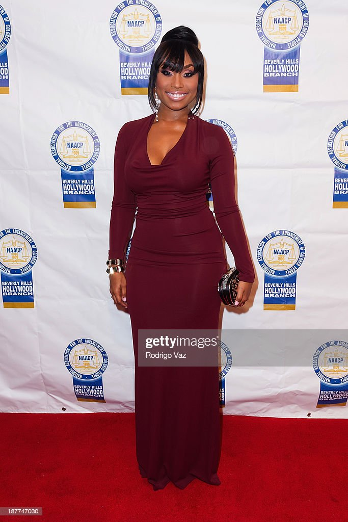Actress Angell Conwell attends the 23rd Annual NAACP Theatre Awards at Saban Theatre on November 11, 2013 in Beverly Hills, California.