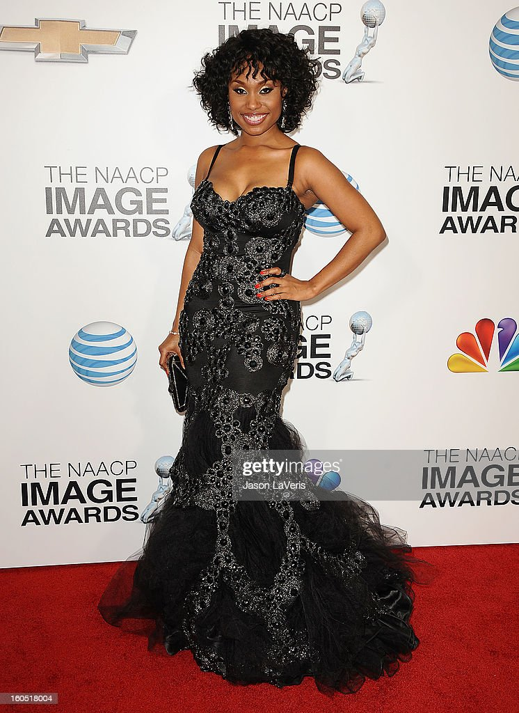 Actress Angell Conwell attends the 44th NAACP Image Awards at The Shrine Auditorium on February 1, 2013 in Los Angeles, California.