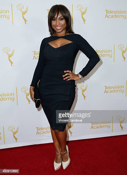 Actress Angell Conwell attends the Television Academy Daytime Emmy Nominee reception at The London West Hollywood on June 19 2014 in West Hollywood...