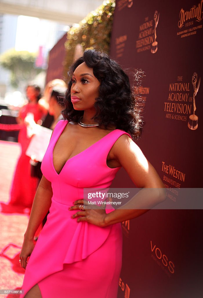 Actress <a gi-track='captionPersonalityLinkClicked' href=/galleries/search?phrase=Angell+Conwell&family=editorial&specificpeople=240300 ng-click='$event.stopPropagation()'>Angell Conwell</a> walks the red carpet at the 43rd Annual Daytime Emmy Awards at the Westin Bonaventure Hotel on May 1, 2016 in Los Angeles, California.
