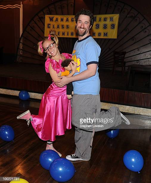 Actress Angie Blocher and actor Dustin Diamond join the cast of 'The Awesome 80's Prom at Webster Hall on May 21 2010 in New York City