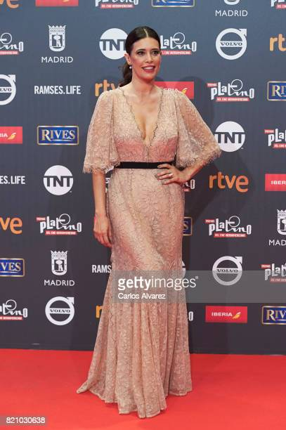 Actress Angie Cepeda attends the Platino Awards 2017 photocall at the La Caja Magica on July 22 2017 in Madrid Spain