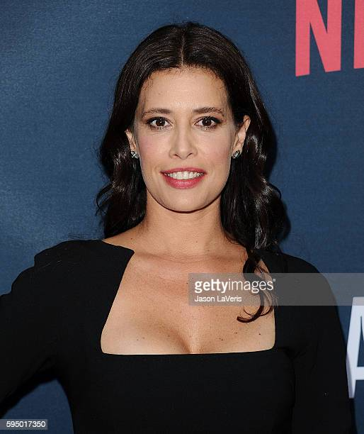 Actress Angie Cepeda attends the season 2 premiere of 'Narcos' at ArcLight Cinemas on August 24 2016 in Hollywood California