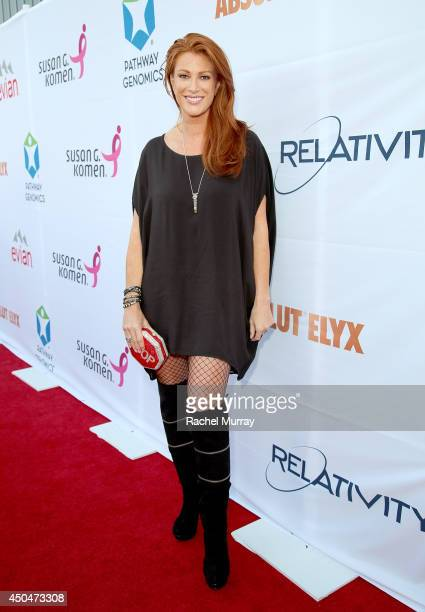 Actress Angie Everhart attends PATHWAY TO THE CURE A fundraiser benefiting Susan G Komen presented by Pathway Genomics Relativity Media and evian...