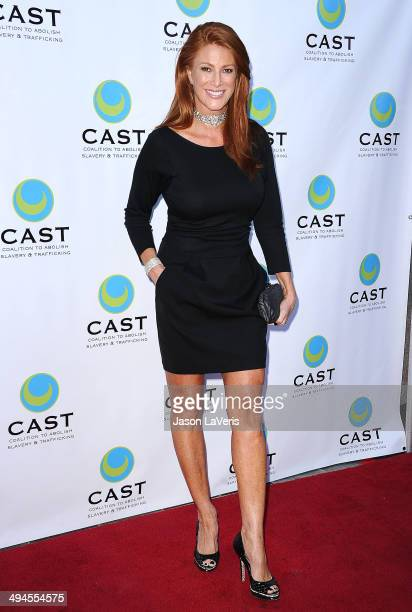 Actress Angie Everhart attends the 16th From Slavery to Freedom gala at Skirball Cultural Center on May 29 2014 in Los Angeles California