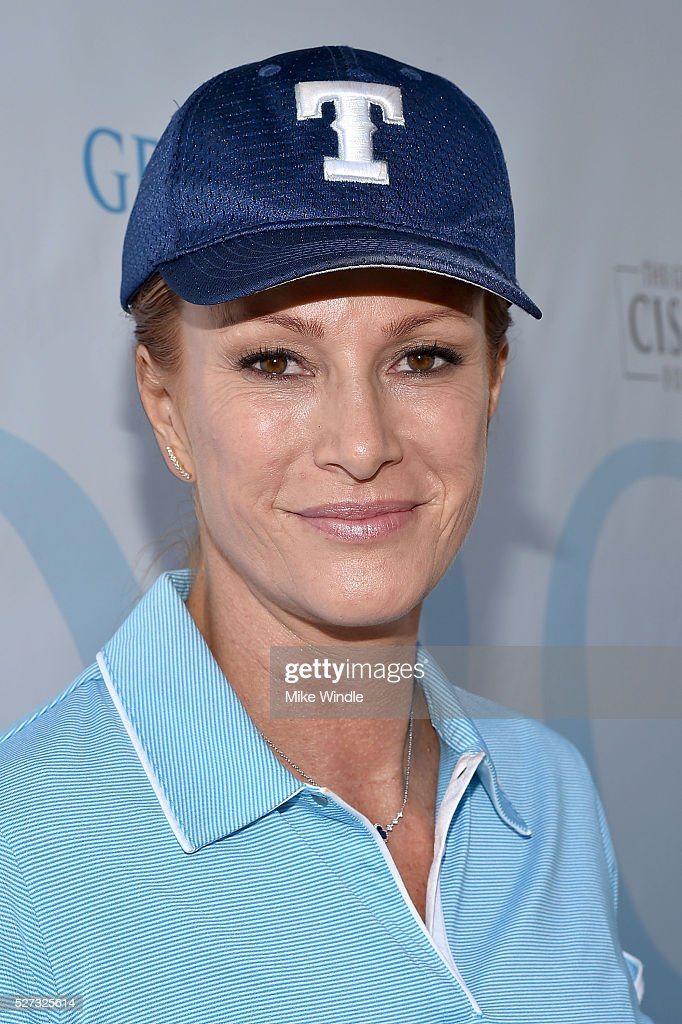 Actress Angie Everhart attends the 9th Annual George Lopez Celebrity Golf Classic to benefit The George Lopez Foundation at Lakeside Golf Club on May 2, 2016 in Burbank, California.