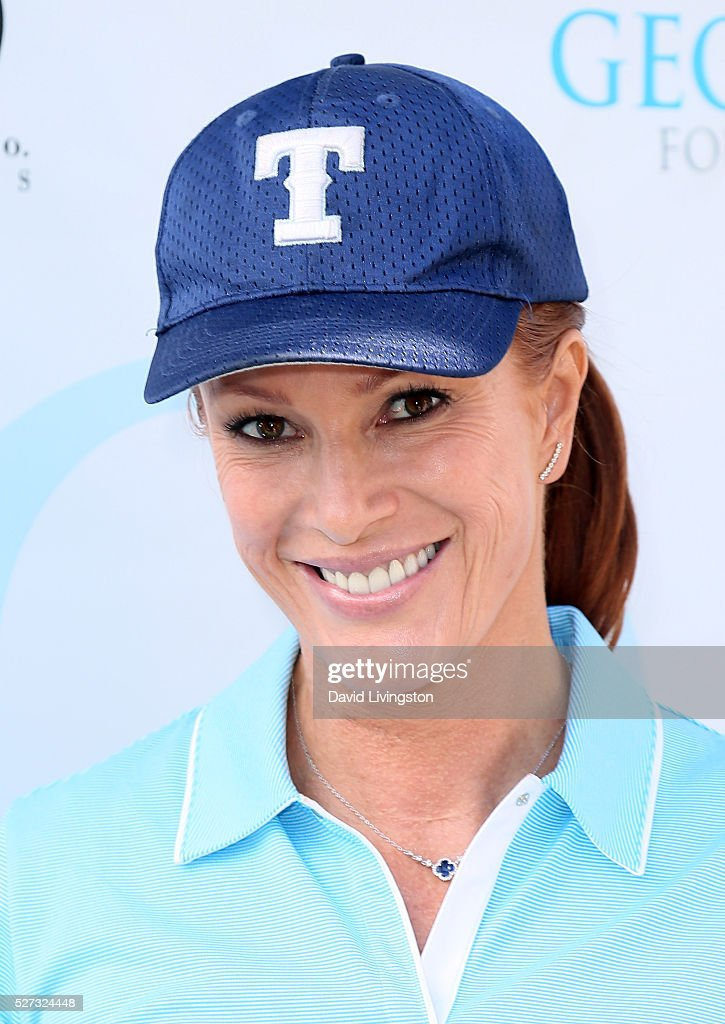 Actress Angie Everhart attends the Ninth Annual George Lopez Celebrity Golf Classic at Lakeside Golf Club on May 2, 2016 in Burbank, California.