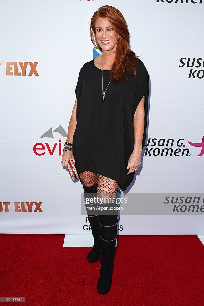 Actress <a gi-track='captionPersonalityLinkClicked' href=/galleries/search?phrase=Angie+Everhart&family=editorial&specificpeople=206121 ng-click='$event.stopPropagation()'>Angie Everhart</a> attends the Pathway To The Cures For Breast Cancer fundraiser benefiting Susan G. Komen presented by Relativity Media and Pathway Genomics at Santa Monica Airport on June 11, 2014 in Santa Monica, California.