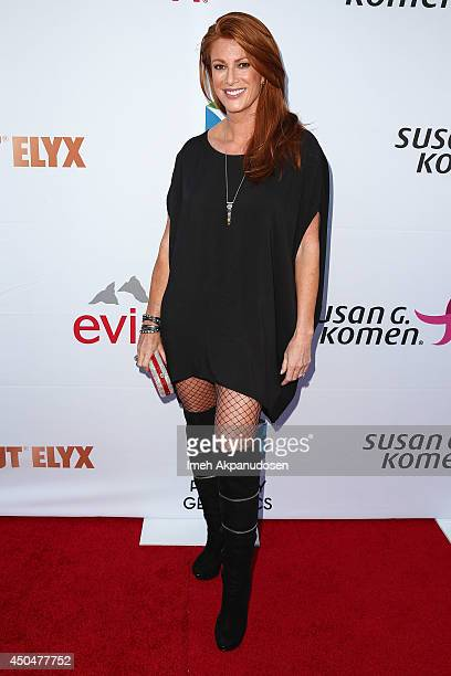 Actress Angie Everhart attends the Pathway To The Cures For Breast Cancer fundraiser benefiting Susan G Komen presented by Relativity Media and...