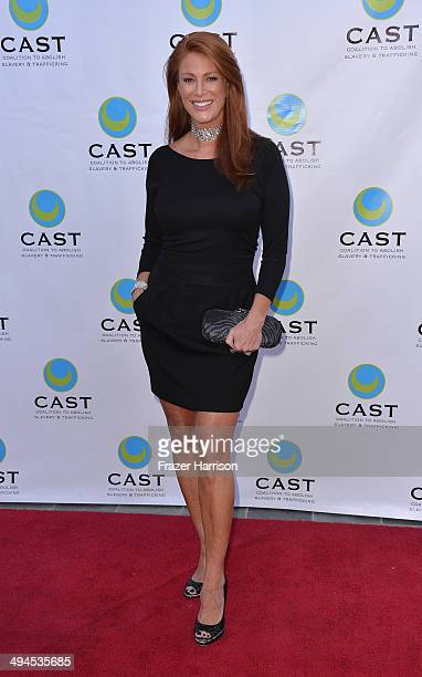 Actress Angie Everheart arrives at the CAST 16th From Slavery To Freedom Gala at Skirball Cultural Center on May 29 2014 in Los Angeles California