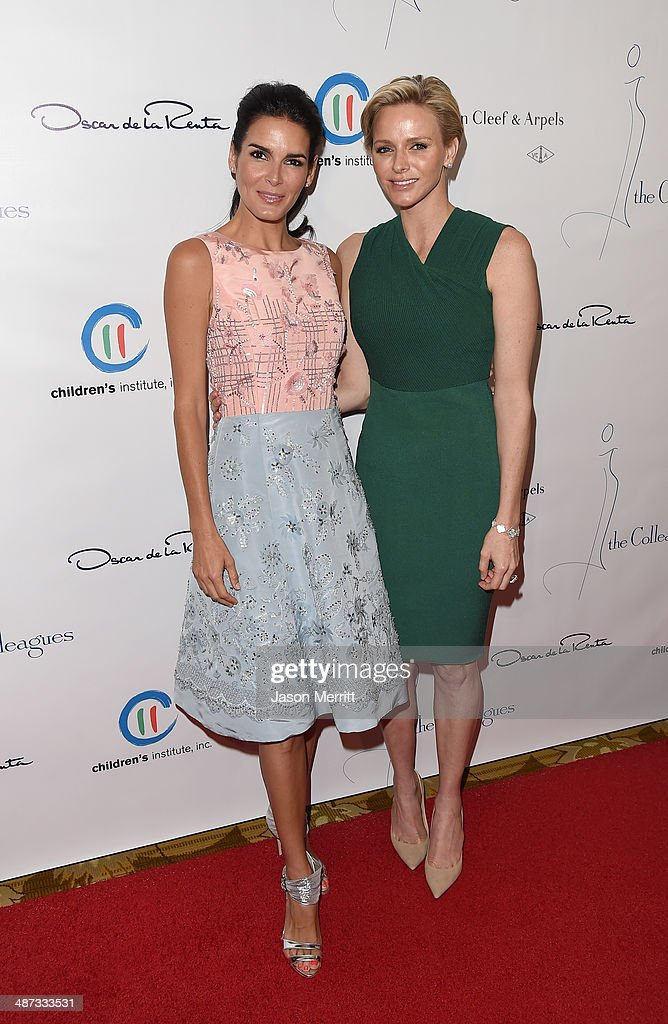 Actress <a gi-track='captionPersonalityLinkClicked' href=/galleries/search?phrase=Angie+Harmon&family=editorial&specificpeople=204576 ng-click='$event.stopPropagation()'>Angie Harmon</a> and her serene highness, Princess Charlene of Monaco, attend the Colleagues' 26th Annual Spring Luncheon at the Beverly Wilshire Four Seasons Hotel on April 29, 2014 in Beverly Hills, California.
