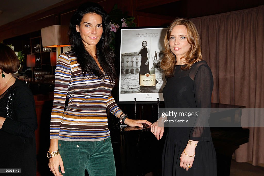 Actress Angie Harmon and Vitalie Taittinger attend the Champagne Taittinger Women in Hollywood Lunch hosted by Vitalie Taittinger at Sunset Tower on January 25, 2013 in West Hollywood, California.