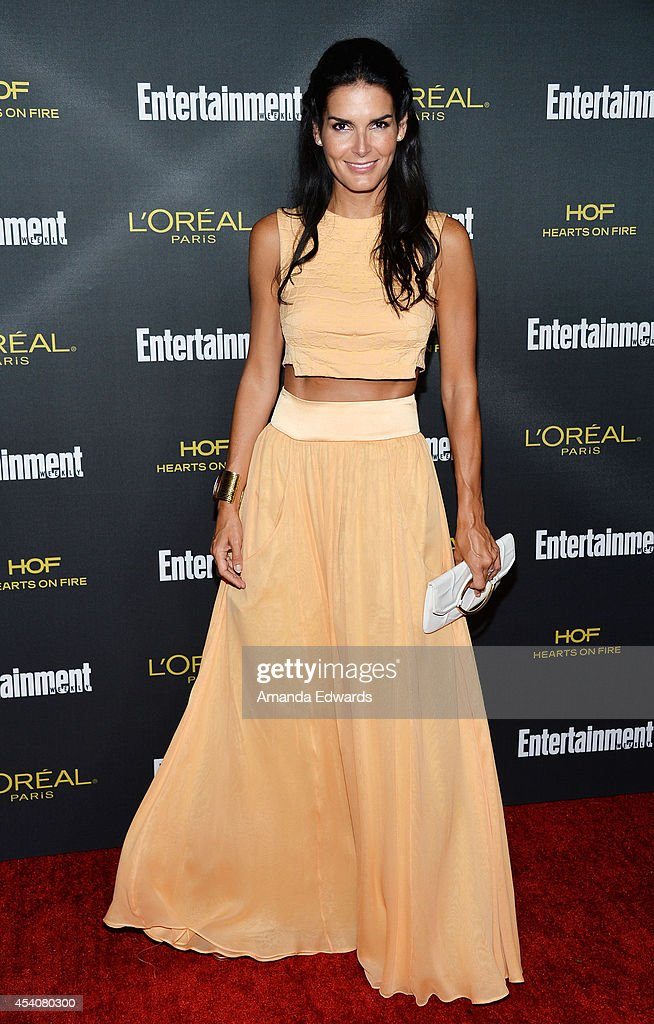 Actress Angie Harmon arrives at the 2014 Entertainment Weekly Pre-Emmy Party at Fig & Olive Melrose Place on August 23, 2014 in West Hollywood, California.