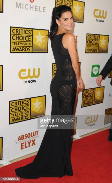 Actress Angie Harmon arrives at the 4th Annual Critics' Choice Television Awards at The Beverly Hilton Hotel on June 19 2014 in Beverly Hills...