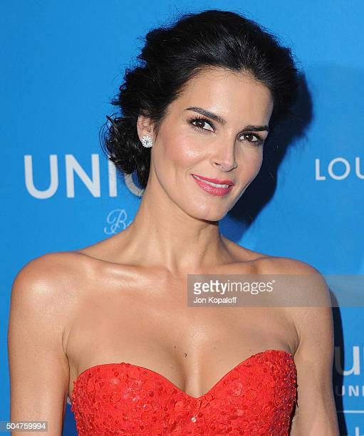 Actress Angie Harmon arrives at the 6th Biennial UNICEF Ball at the Beverly Wilshire Four Seasons Hotel on January 12 2016 in Beverly Hills California