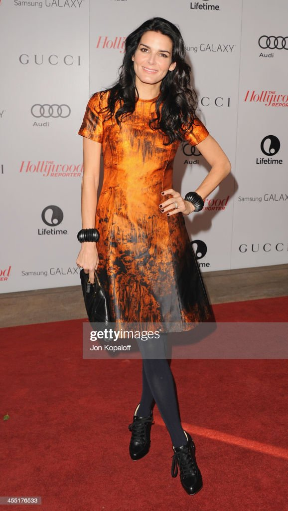 Actress Angie Harmon arrives at The Hollywood Reporter's 22nd Annual Women In Entertainment Breakfast 2013 at Beverly Hills Hotel on December 11 2013...