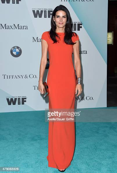 Actress Angie Harmon arrives at Women In Film 2015 Crystal Lucy Awards at the Hyatt Regency Century Plaza on June 16 2015 in Los Angeles California