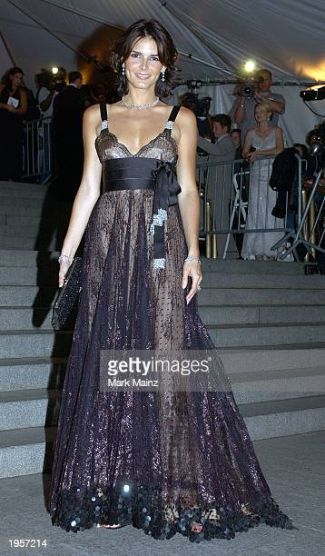 Actress Angie Harmon arrives for 'Goddess Costume Institute Benefit Gala' at the Metropolitan Museum of Art April 28 2003 in New York City