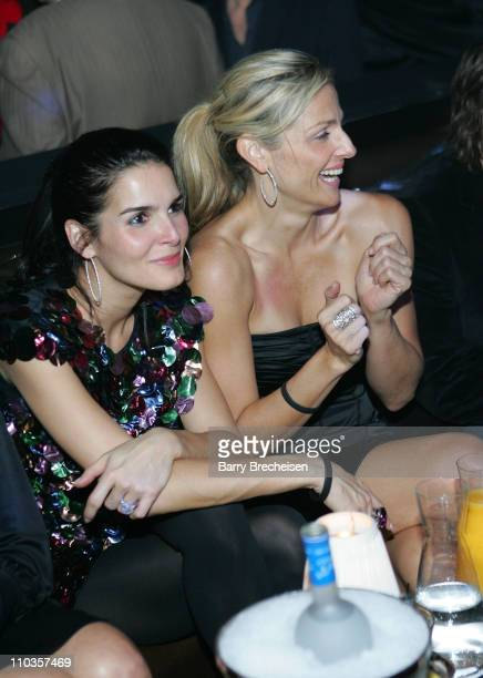 Actress Angie Harmon at Amy Sacco Birthday Celebration at the Body English nightclub at the Hard Rock Hotel Casino January 10 2008 in Las Vegas Nevada