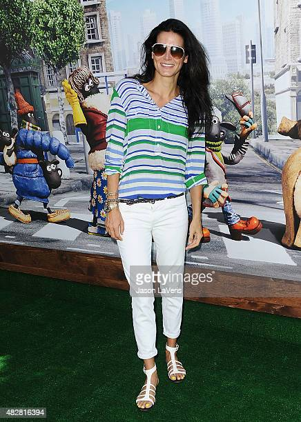 Actress Angie Harmon attends a screening of Lionsgate's 'Shaun the Sheep Movie' at Regency Village Theatre on August 1 2015 in Westwood California