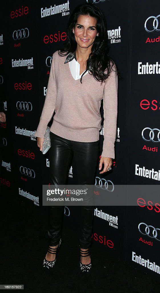 Actress Angie Harmon attends Entertainment Weekly Screen Actors Guild Awards Pre-Party at Chateau Marmont on January 26, 2013 in Los Angeles, California.