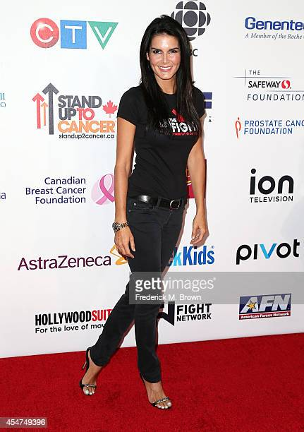 Actress Angie Harmon attends Hollywood Unites for the 4th Biennial Stand Up for Cancer a Program of the Entetainment Industry Foundation at the Dolby...