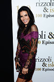 Actress Angie Harmon attends the 100 episode celebration of TNT's 'Rizzoli and Isles' at Cicada on July 9 2016 in Los Angeles California