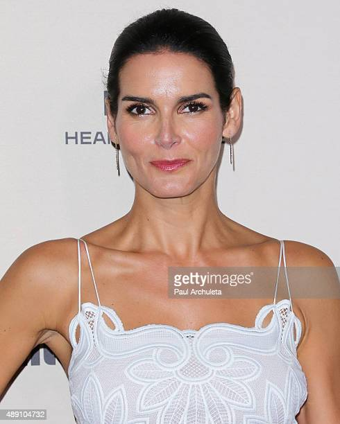 Actress Angie Harmon attends the 2015 Entertainment Weekly preEmmy party at Fig Olive Melrose Place on September 18 2015 in West Hollywood California