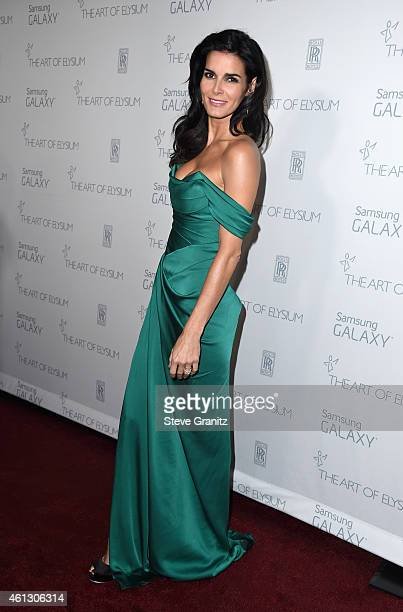 Actress Angie Harmon attends The Art of Elysium 8th Annual Heaven Gala at Hangar 8 on January 10 2015 in Santa Monica California