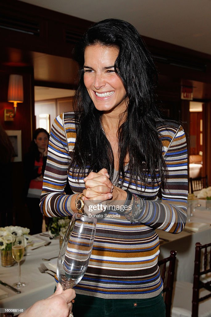Actress <a gi-track='captionPersonalityLinkClicked' href=/galleries/search?phrase=Angie+Harmon&family=editorial&specificpeople=204576 ng-click='$event.stopPropagation()'>Angie Harmon</a> attends the Champagne Taittinger Women in Hollywood Lunch hosted by Vitalie Taittinger at Sunset Tower on January 25, 2013 in West Hollywood, California.