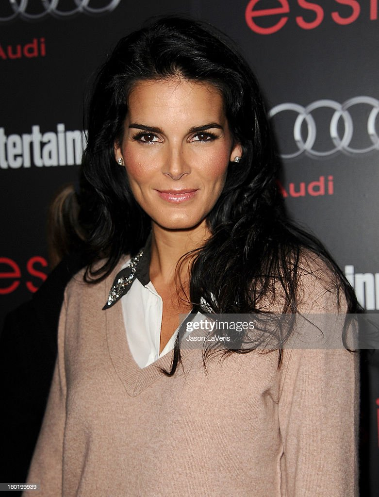 Actress Angie Harmon attends the Entertainment Weekly Screen Actors Guild Awards pre-party at Chateau Marmont on January 26, 2013 in Los Angeles, California.