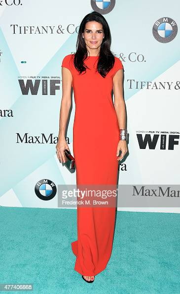 Actress Angie Harmon attends the Women in Film 2015 Crystal Lucy Awards at the Hyatt Regency Century Plaza Hotel on June 16 2015 in Los Angeles...
