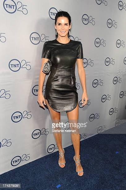 Actress Angie Harmon attends TNT 25TH Anniversary Party during Turner Broadcasting's 2013 TCA Summer Tour at The Beverly Hilton Hotel on July 24 2013...
