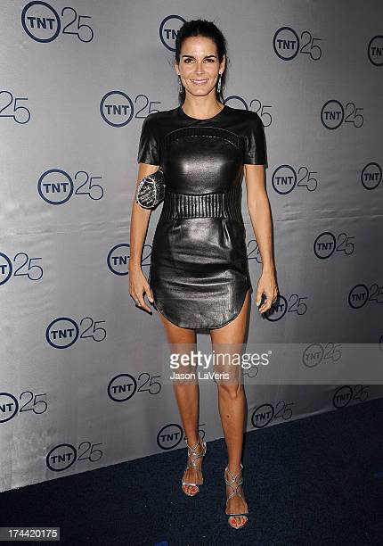 Actress Angie Harmon attends TNT's 25th anniversary party at The Beverly Hilton Hotel on July 24 2013 in Beverly Hills California