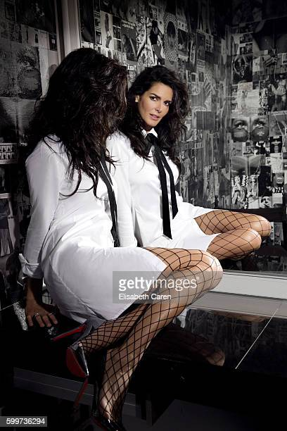 Actress Angie Harmon is photographed for Viva on January 13 2016 in Los Angeles California PUBLISHED IMAGE
