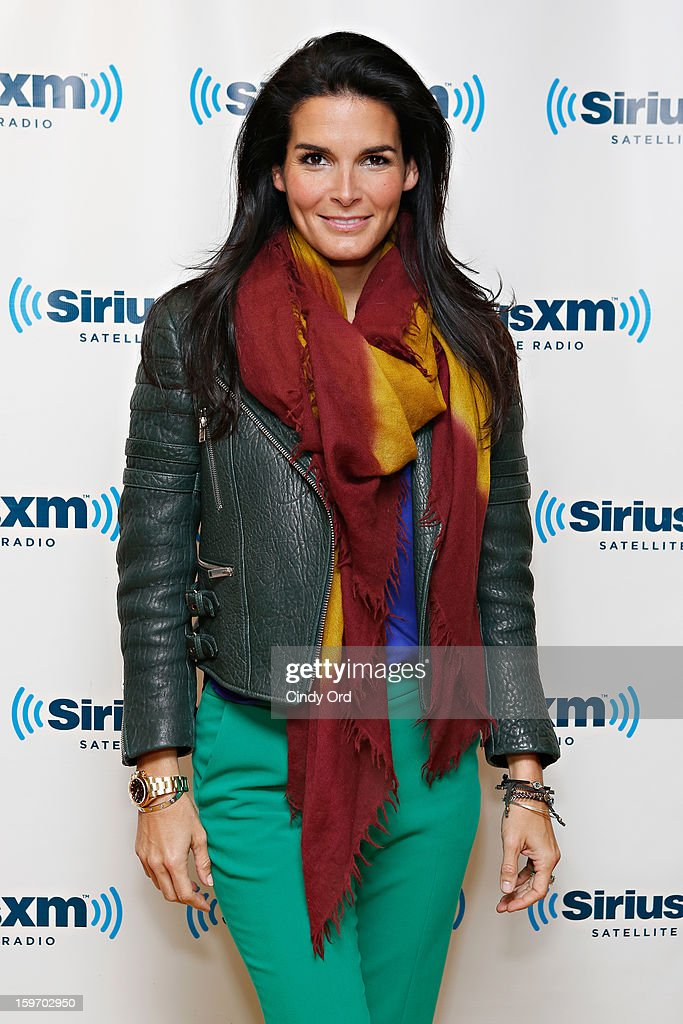 Actress Angie Harmon visits the SiriusXM Studios on January 18, 2013 in New York City.