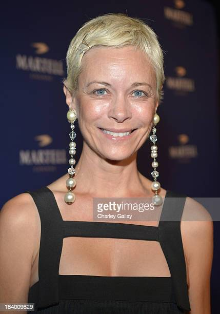 Actress Angie Hill arrives at The Paramour Mansion to celebrate the launch of Martell Caractère Martell's newest cognac expression on October 10 2013...