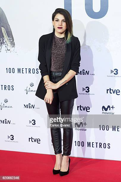 Actress Angy Fernandez attends '100 Metros' premiere at Capitol cinema on November 2 2016 in Madrid Spain